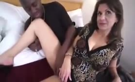 Talkative milf interracial anal