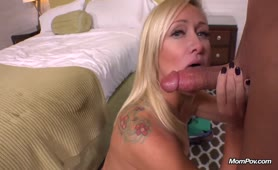 Hot MILF sucking cock and fucking