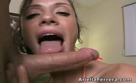 Ariella Ferrera - sensual sloppy blow 2