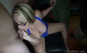 ex-wife Blowbang at Club