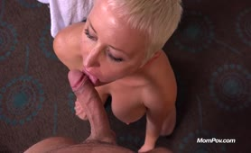 Busty Pixie chick takes large Facial on MomPov