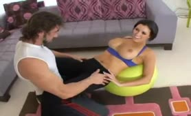 Smoking Hot Dylan Ryder rides Her Personal Trainer