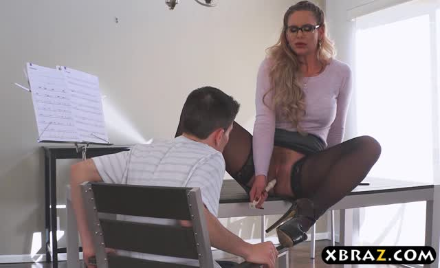 Milf flute teacher incredible anal sex with her student