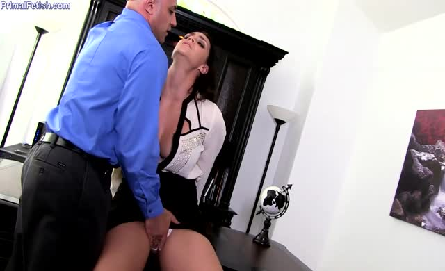 Bitchy busty boss becomes an obedient sex slave