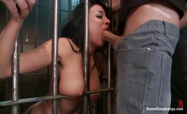 Anissa kate bound dominated and gangbanged