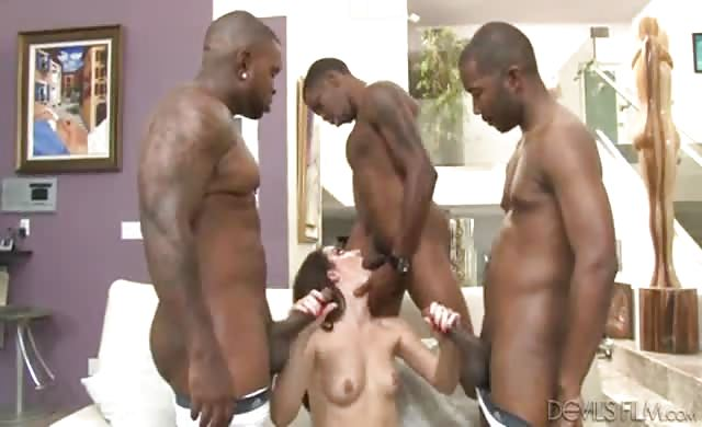 Gangbang interracial 8