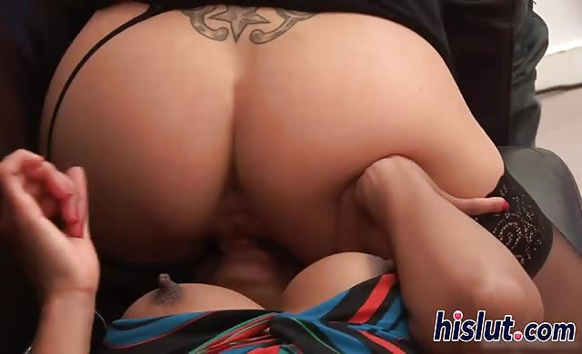 Hot threesome action with two delicious babes