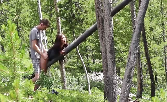 chinese teenie fucked Hard In The Forest
