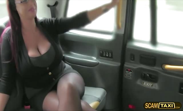 Horny large titties lady Gets A Free Taxi Fare And A Hardcore Sex