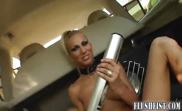 Outdoor Fisting And Insertions For Horny blonde bitch