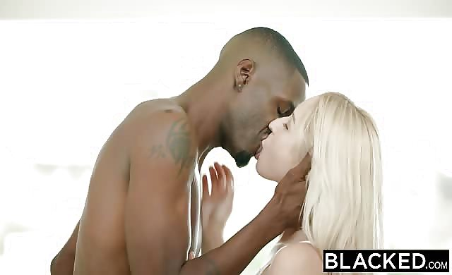 Blacked blonde sweety Goldie Takes Her First large ebony meat