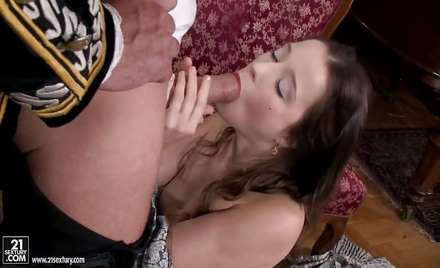 Brunette broad Anal Penetraded By Her Lord