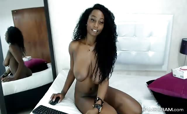 Good looking black fucking self on webcam