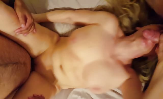 wife With Great Natural Bouncing boobs Getting Gangbanged