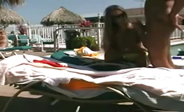 couple Fuck By A Pool At Swinger Resort