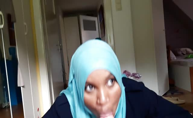 Hijab Muslim sucking Good rod