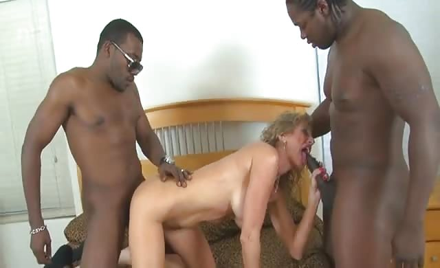 cougar Housewife fucks The black Hired Help