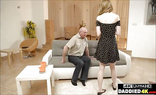 Sneaky older Dad fucks Sons gorgeous young GF
