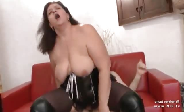 huge Chubby French bitch In Leather And Pvc Hard Analyzed And Fisted