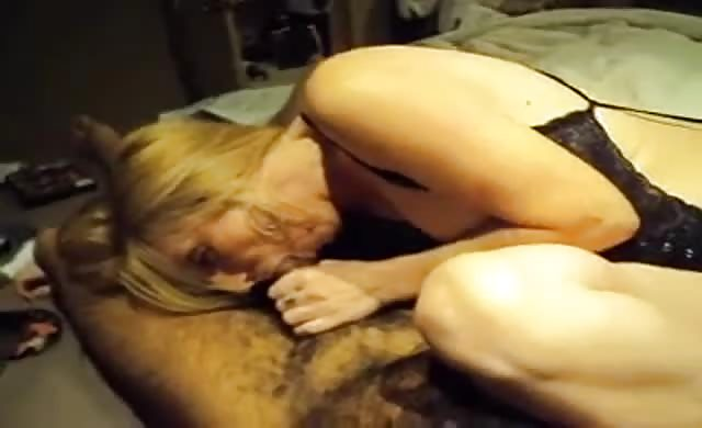 White Milf Blowing On A Big Black Cock