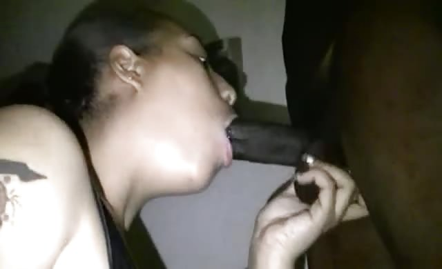 Ebony Sucks A Huge Dick And Eats Cum
