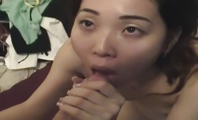 Japanese Slut Loves Tasting His Big Dick Cum