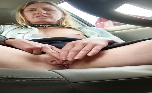 Horny Milf Masturbates In Her Car At Truck Stop